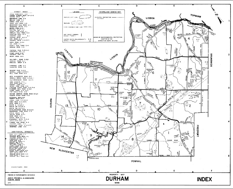 Durham Zone Map Index